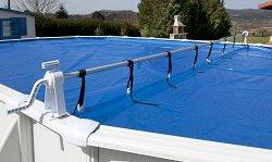 Ролка за навиване на покривало за басейн
