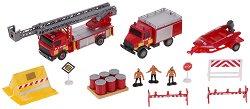 Пожарна команда - Комплект метални играчки -