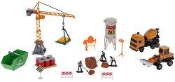 Строителна площадка - Комплект метални играчки - играчка