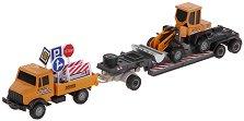 Камион с булдозер - Комплект метални играчки - играчка