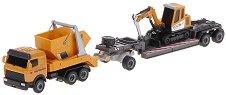 Камион и багер - Комплект метални играчки - играчка