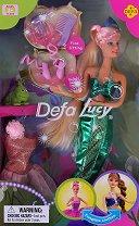 """Кукла Луси - Русалка - Кукла с аксесоари от серията """"Defa Lucy"""" -"""