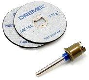 Армирани дискове за рязане - ∅ 38 mm - Комплект от 2 броя с шпиндел -